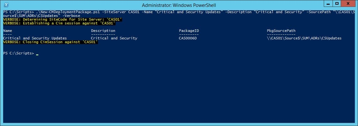 how to create powershell pakages