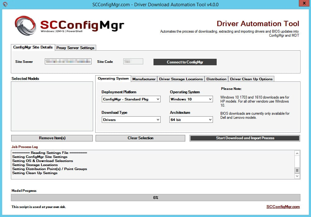 Driver Automation Tool 4 0 0 Released | | System Center