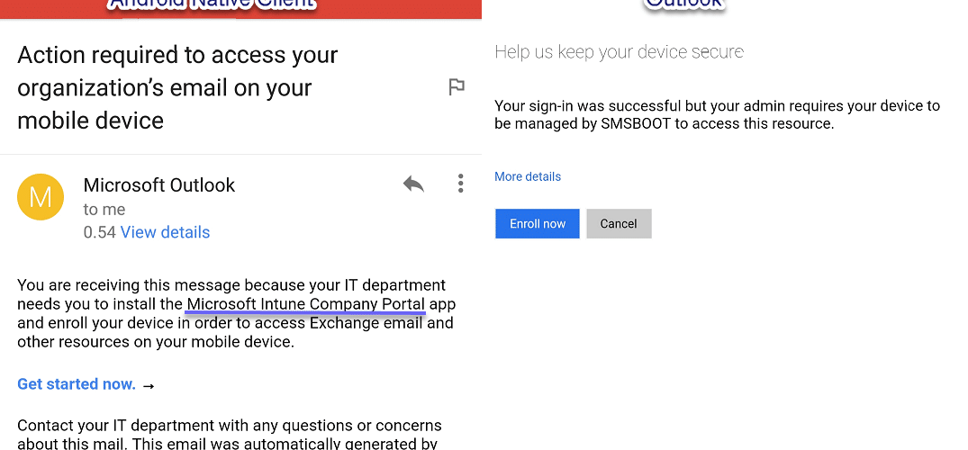 Email S On Android With Microsoft