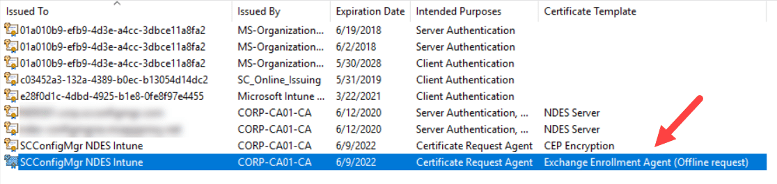 How to renew NDES service certificates for usage with Microsoft Intune